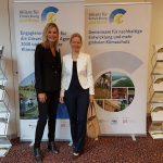 Stand der Allianz für Entwicklung und Klima auf dem Wirtschaftstag der IHK Fulda am 12.09.2020, zusammen mit Allianz-Mitbegründerin Prof. Dr. Estelle Herlyn