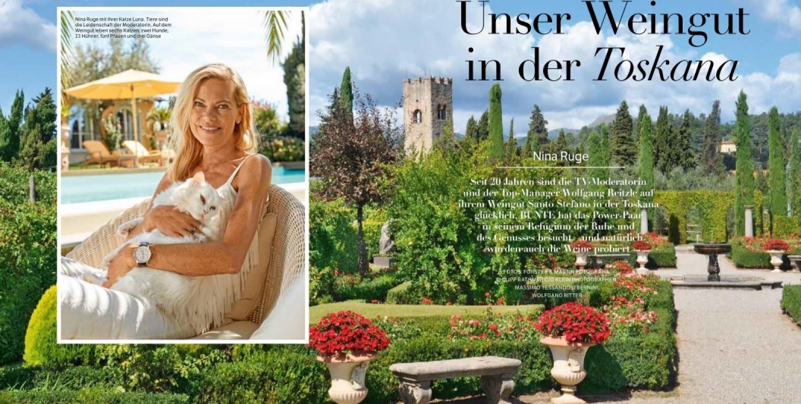 Besuch in der Toskana: Titelstory in BUNTE Genuss&Stil